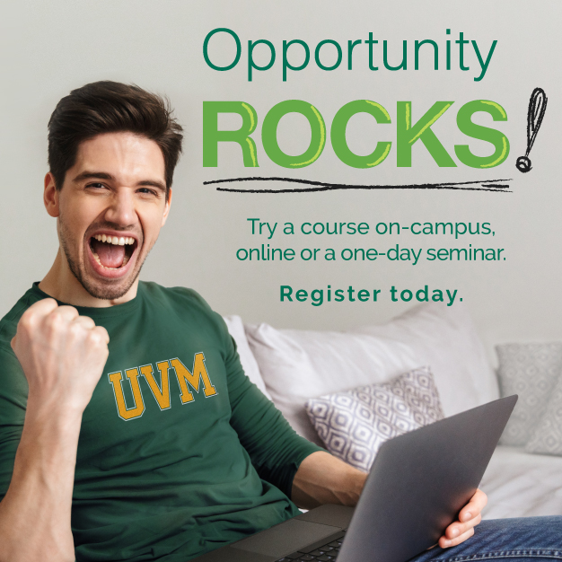 Opportunity Rocks campaign for Continuing and Distance Education at UVM