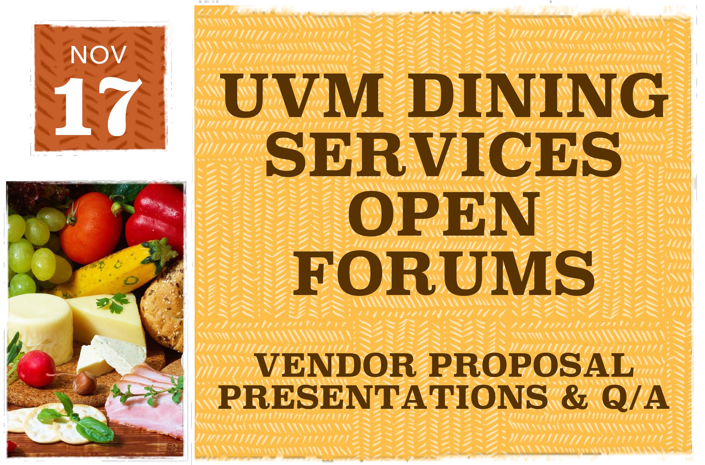 Dining Vendor Forums Fall 2014