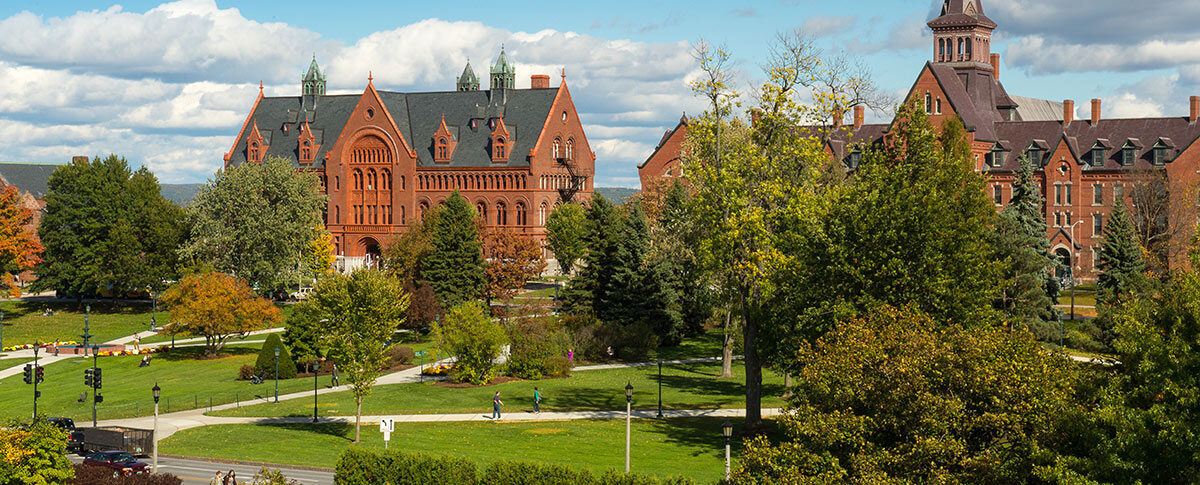 View of campus looking towards the Billings library