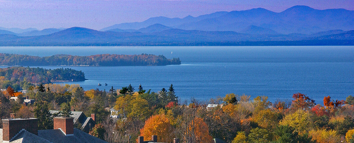 Picture of the Adirondack range from Burlington, Vermont