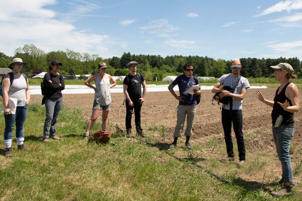 A group of Farmer Training Program students