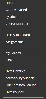 BB screenshot of menu
