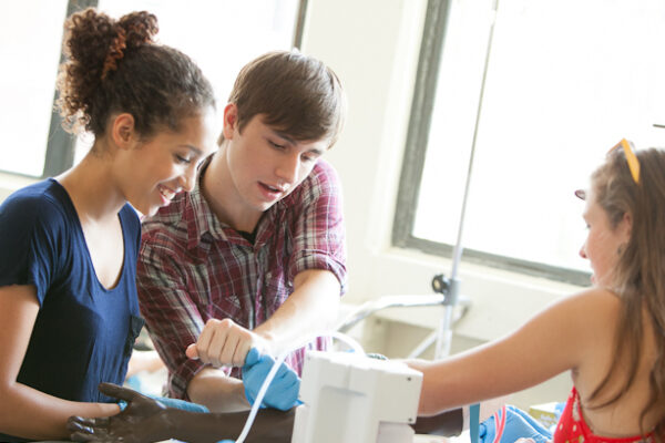 Students in a lab setting