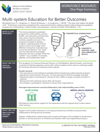 Multi-system Education for Better Outcomes image