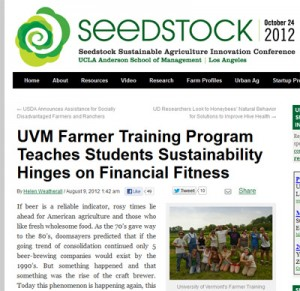UVM's Farmer Training Program teaches students sustainability hinges on financial fitness