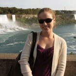 Alessandra Capossela visits Niagara Falls in Canada.