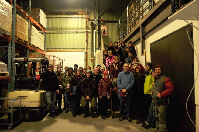 UVM Food Hub Program students toured the Mad River Food Hub.