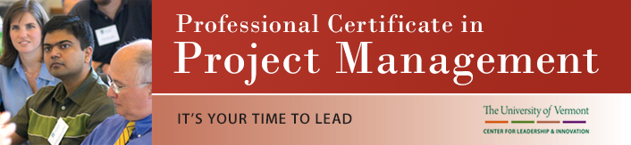 Professional Certificate in Project Management at the University of Vermont