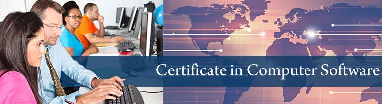 Computer Software Certificate