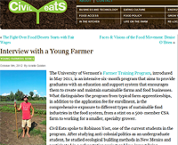 Civil Eats: UVM's Farmer Training Program is an intensive six-month program that teaches students how to create sustainable farms and food businesses.