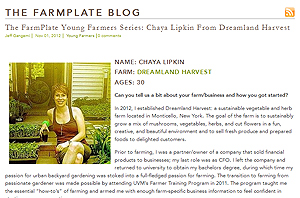 Chaya Lipkind dicusses how she learned organic farming at the University of Vermont's Farmer Training Program on the Farmplate blog